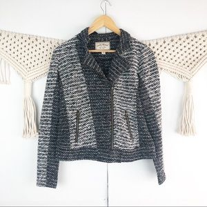 Lucky Brand Women's Moto Jacket Black sweater S